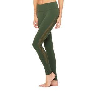 Alo Yoga Luminous Leggings Hunter Green Size Small